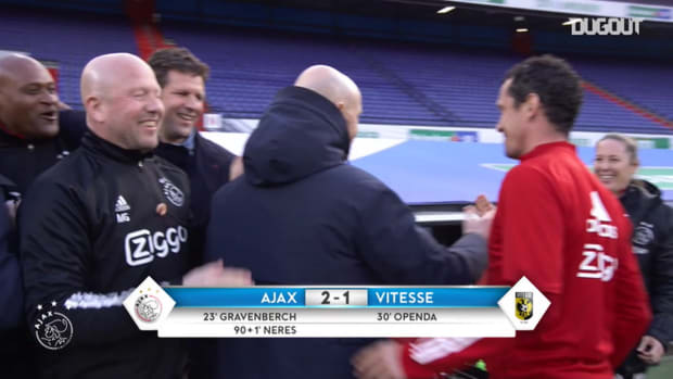 Behind the scenes: Ajax players celebrate winning KNVB Cup