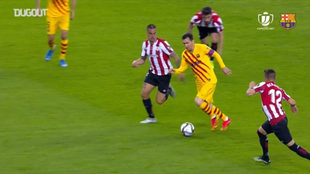 Best of Leo Messi against Athletic Bilbao in the Copa del Rey final