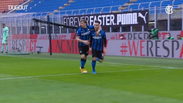 All Lautaro's headers with Inter