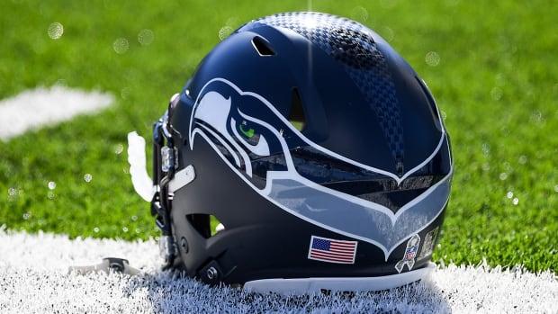 Seahawks helmet.