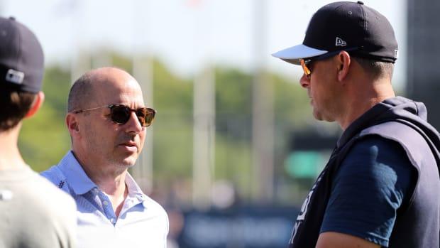 Yankees GM Brian Cashman, manager Aaron Boone