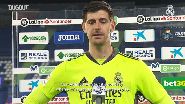 Thibaut Courtois: 'The La Liga title race is proving to be tough'