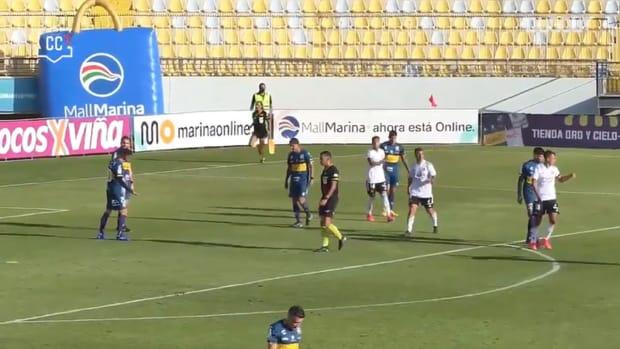 Colo-Colo's 2-0 victory at Everton