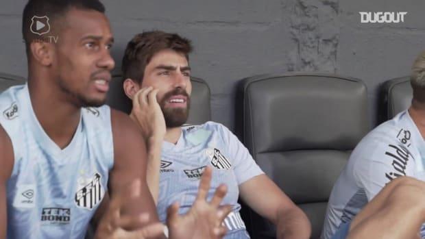 Santos' last training session before Barcelona SC clash