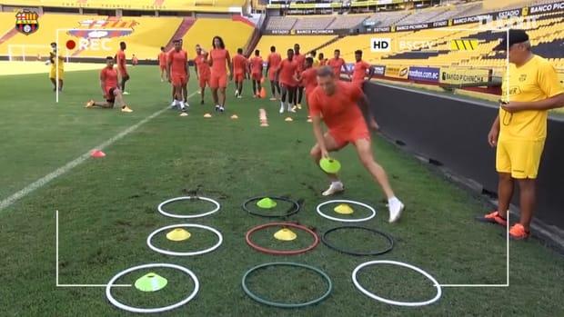 Barcelona SC fun games in training