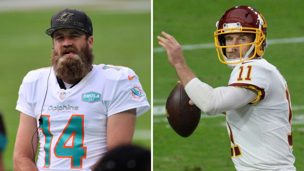Side by side image of Ryan Fitzpatrick and Alex Smith
