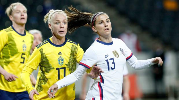 USWNT star Alex Morgan vs. Sweden