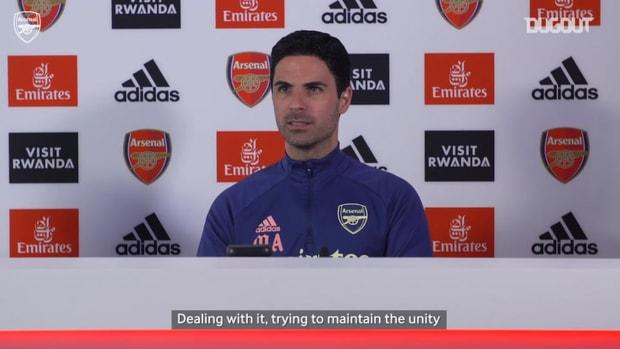 Arteta on Club unity, European targets and Everton memories