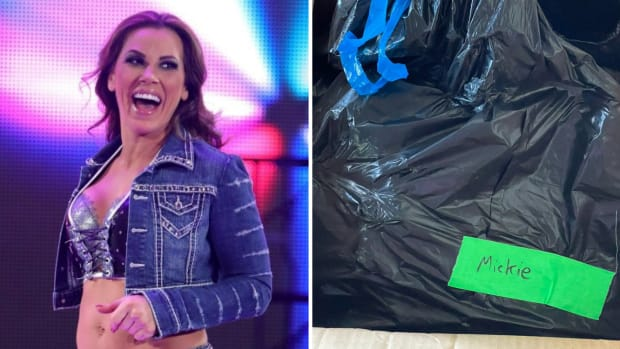 Mickie James received her belongings from WWE in a garbage bag