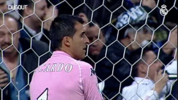 Raul's brace as Real Madrid player against Betis