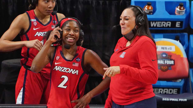 Arizona's Aari McDonald and Adia Barnes