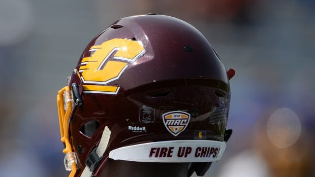 Central Michigan football helmet.