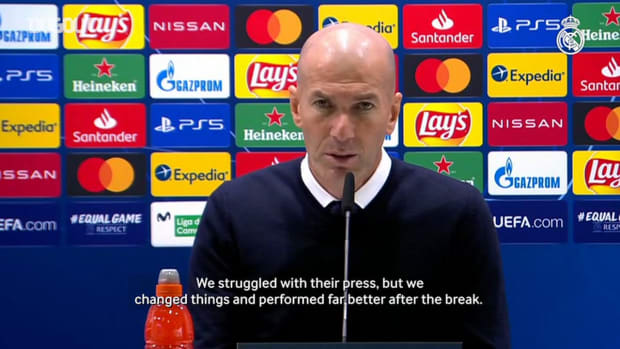 Zinedine Zidane: 'We struggled, but it's a fair result'
