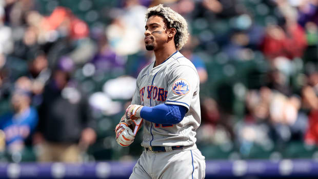 Francisco Lindor with the Mets