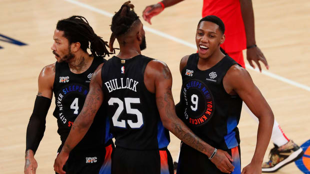 Knicks celebrate