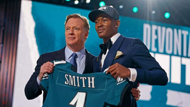 DeVonta Smith was taken by the Eagles with the 10th overall pick in the 2021 NFL Draft
