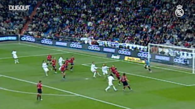 Ruud van Nistelrooy's goal against Osasuna from the 2007/08 season