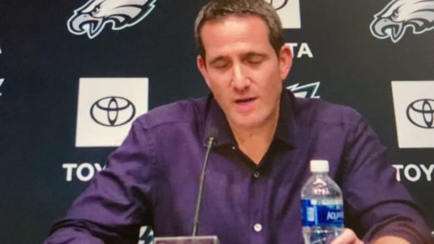 Howie Roseman meets media after 2021 NFL Draft concluded