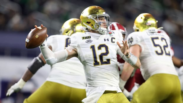 Ian Book, QB, Notre Dame; Saints Quarterback