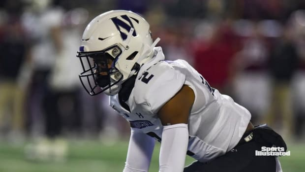 BLOOMINGTON, IN - NOVEMBER 02: Northwestern (CB) Greg Newsome II (2) during a college football game between the Northwestern Wildcats and Indiana Hoosiers on November 2, 2019, at Memorial Stadium in Bloomington, IN.