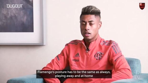 Bruno Henrique talks about how Flamengo should play against LDU