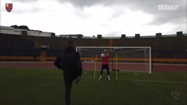 Flamengo's last training session to face LDU in Quito