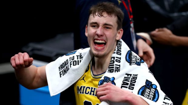Franz Wagner playing for Michigan