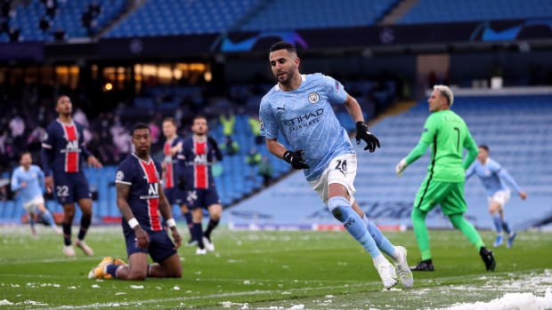 Manchester City's Riyad Mahrez