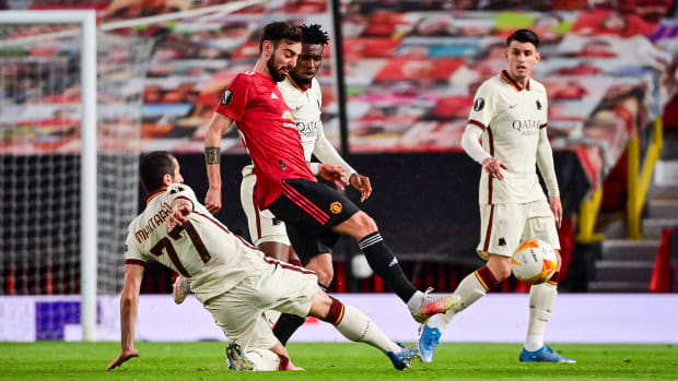 Bruno Fernandes against Roma