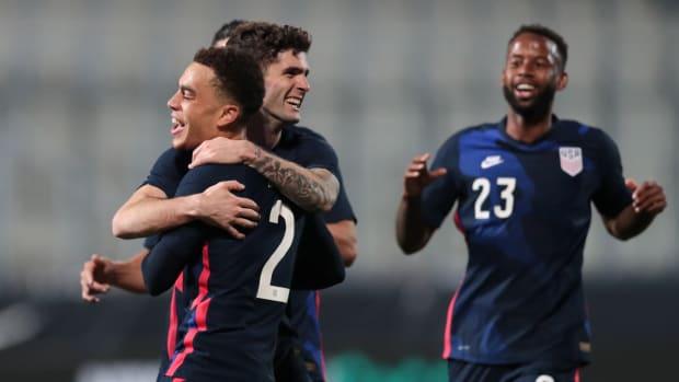 U.S. men's national team celebrate