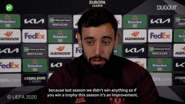 Bruno Fernandes: Winning the Europa League is a signal of improvement