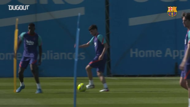 Barcelona's training session with one eye on Atlético Madrid