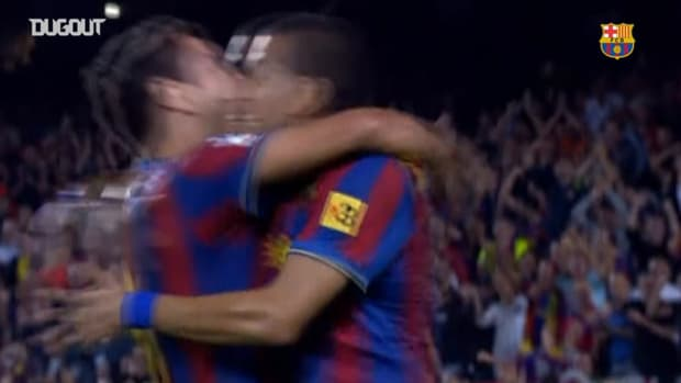 Dani Alves's long-range goal vs Atletico Madrid