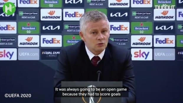 Ole Gunnar Solskjaer: 'Manchester United in the final because of Edinson Cavani'