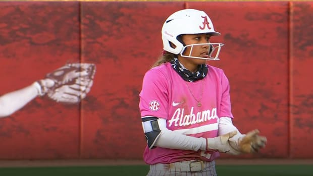Alabama softball player Savannah Woodard on Friday, May 7, 2021 vs. Ole Miss.
