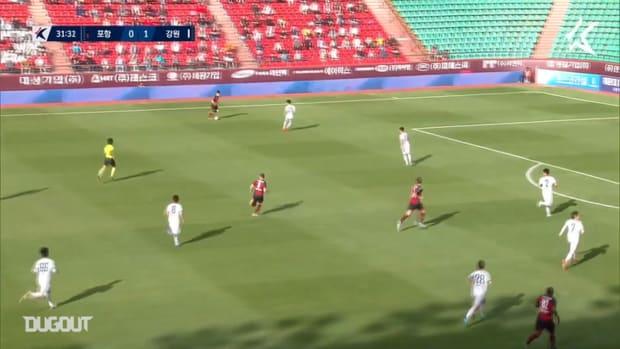 Mario Kvesić volley against Gangwon