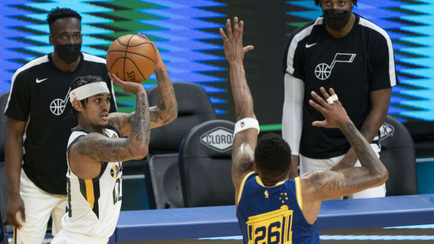 Jordan Clarkson against the Golden State Warriors
