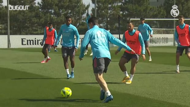Possession and pressing during Real Madrid's training ahead of the final run for LaLiga