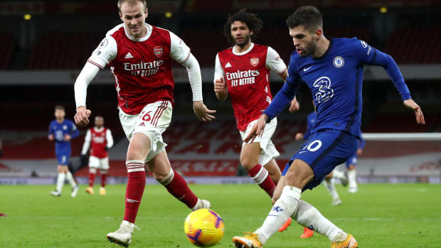 Christian Pulisic against Arsenal in December