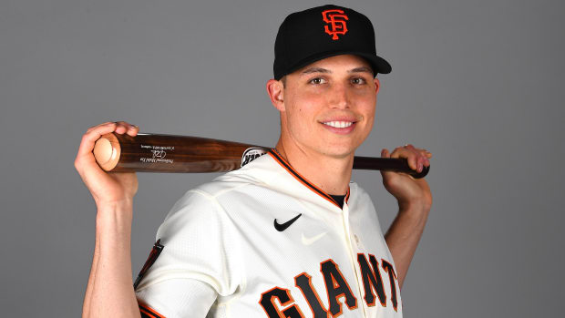 Portrait of Giants minor leaguer Drew Robinson