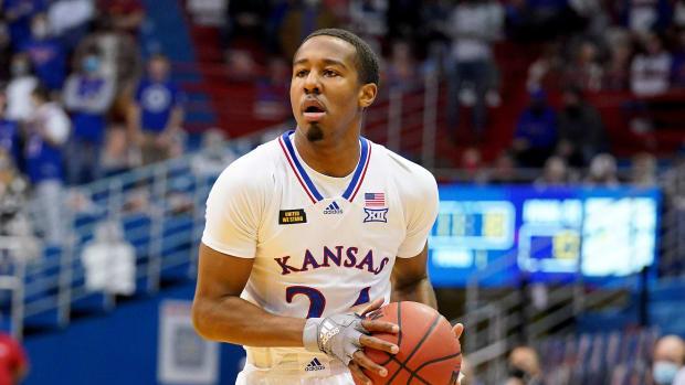 Guard Bryce Thompson while at Kansas