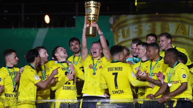 Erling Haaland and Borussia Dortmund win the DFB Pokal