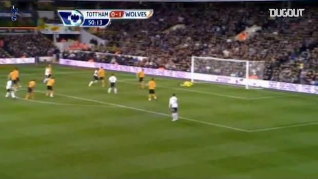 Luka Modric's low drive vs Wolves