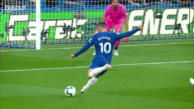 Eden Hazard's skilful finish against Liverpool