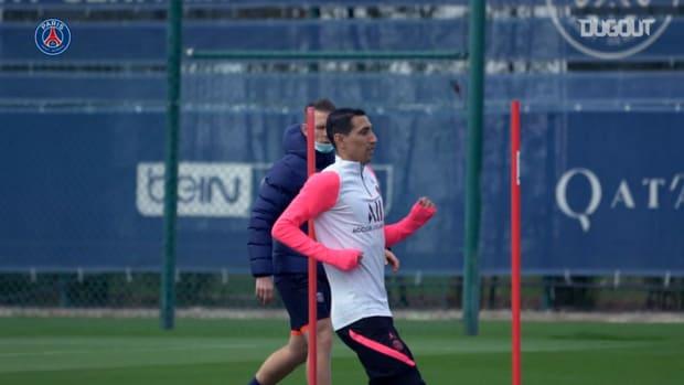 Focus on Angel DI Maria's training session