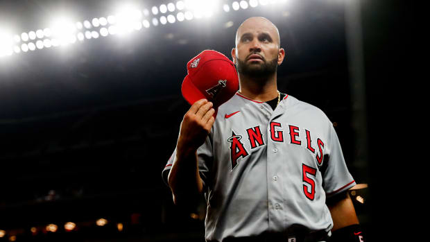 Albert Pujols with the Angels.