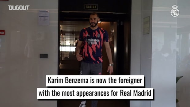 Karim Benzema, the foreigner with the most appearances for Real Madrid