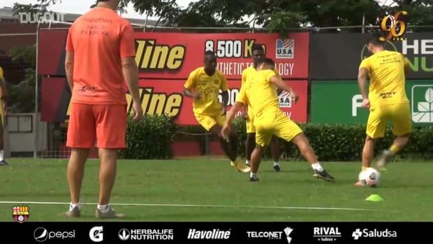 Barcelona SC prepare for game vs Boca Juniors