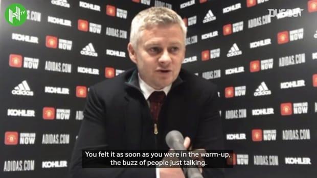Ole Gunnar Solskjaer applauds Edinson Cavani's 'goal of the season'
