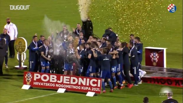 GNK Dinamo Zagreb celebrate 2020-21 season league title